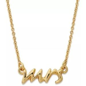 "Kate Spade say yes ""mrs"" necklace in gold"